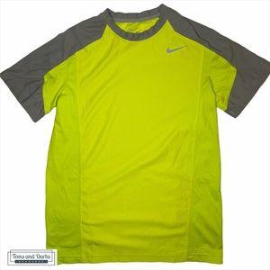 Nike Youth Dri Fit T-Shirt in Neon Yellow